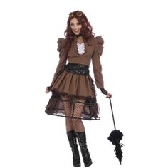 Steampunk Vicky Womens Costume - FM-68828 by Medieval Collectibles  LOVE the see-through skirt!