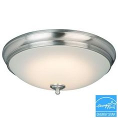 Commercial Electric Brushed Nickel LED Flushmount HUI8011LL/BN at The Home Depot - Mobile