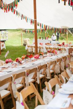 Lovely DIY Wedding Bunting and Garland Ideas. Bunting would be a great alternative for some color instead of flowers! And could DIY