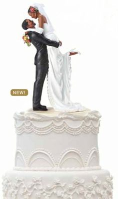 Bride And Groom Cake Topper With Halo
