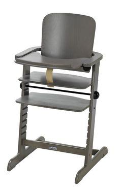 Chaise haute évolutive  bébé Family avec tablette repas grise GEUTHER