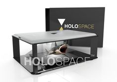 Take a piece of our interactive experiences home with you by turning your own smart device into a miniature holographic display. Holospace Mobile works with your phone or tablet, and allows you to customise your own content.