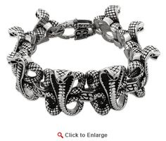 Stainless Steel Cobra Link Bracelet