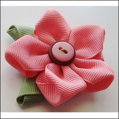 Cute ribbon flower