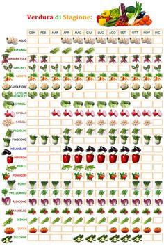 Verdura di stagione, cosa coltivare mese per mese.....