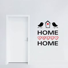 "Wallsticker su Adesiviamo ""Home Sweet Home Birds"" http://ow.ly/IINkP"