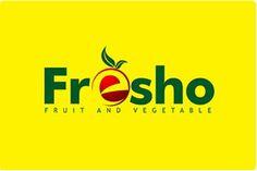 Fresho Fruit and Vegetable- Farming Retail Logo Design