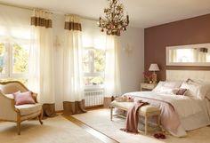Dormitorio en colores cálidos
