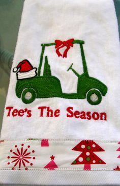 Tee's the Season christmas golf towel