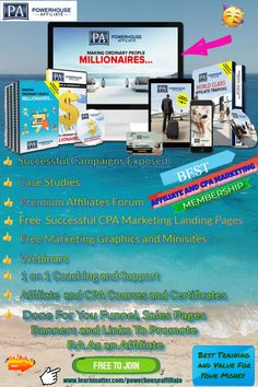 POWERHOUSE AFFILIATE. MEMBERSHIP SITE. AFFILIATE AND CPA MARKETING COURSES FREE TO JOIN