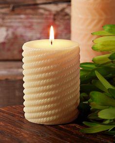 "3"" x 4"" Island Essence Molded Pillar Candle"