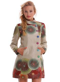DESIGUAL Abrigo COLORFUL CIRCLES - 159,20€ :