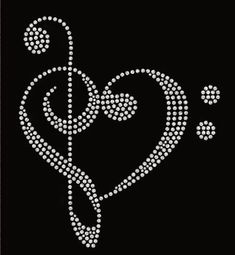 Free shipping USA Love Music Treble Clef and by MySpecialTshirts