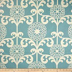Waverly Fun Floret Sateen Spa Fabric