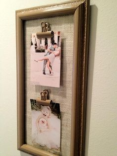 Interchangeable Frame #diy #burlap #clips