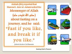 fasting on a journey
