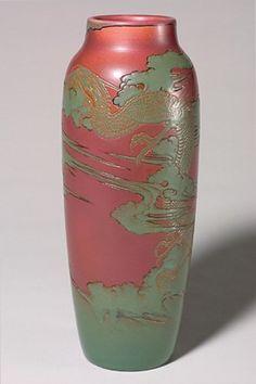 Rookwood Pottery, Cincinatti, Mat Glaze decorated vase by Kataro Shirayamadani, 1902.