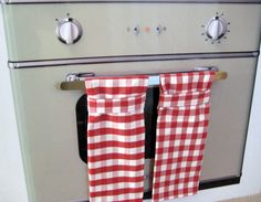 Hanging Towel Kitchen Red Checked by MissyMadeWell on Etsy, $8.50