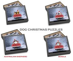 Christmas Gifts For Pets, Christmas Animals, Christmas Puzzle, Christmas Dog, White Terrier, Bull Terrier, Shiba Inu, Chipboard, Yorkshire Terrier