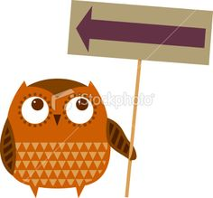 Owl sign Royalty Free Stock Vector Art Illustration - like the different patterns on the owl