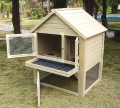Barrington Townhouse Rabbit Hutch -- I think this would make a nice brooder for adolescent chicks.