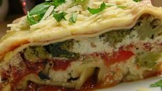 A pound of fresh mushrooms along with lots of bell peppers and onions gives full-bodied flavor to this vegetable lasagna.