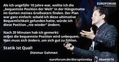 Dietmar Dahmen über seine erste Erfahrung mit Disruption.