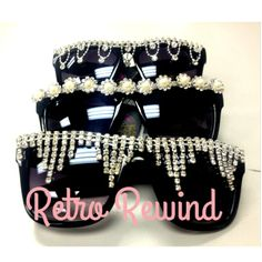 691b9268500b Check out our new party line of Retro Rewind sunglasses with jewelry  designs. Get them only   GotShades.com.