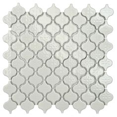 @Overstock - This mini porcelain mosaic tile set adds flair to any decor. These durable tiles are perfect for either indoor or outdoor use. The floral accents are the highlight of this glazed porcelain mosaic tile that is set with a high sheen finish.http://www.overstock.com/Home-Garden/SomerTile-Mini-White-Porcelain-Mosaic-Tile-Pack-of-10/6620182/product.html?CID=214117 $116.99