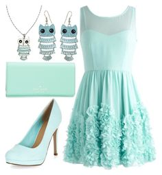 Mint Formal Owls by rhythmicgoofyworm on Polyvore featuring Kate Spade, Wet Seal and River Island