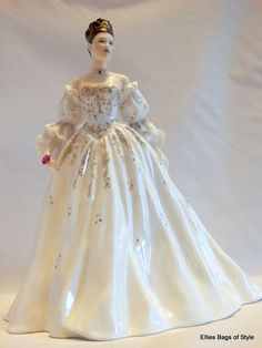 Royal Worcester Coronation Ball CHRISTINA Figurine, Made in England.