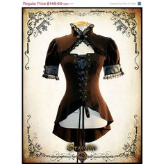 Miss Delphine Steampunk Clothing Blouse Steam Punk Shirt for Larp... ($117) ❤ liked on Polyvore featuring corsets and steampunk