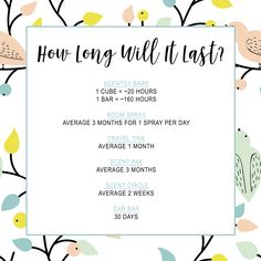 Ever wondered how long Scentsy products last for? Here is the breakdown... https://katiedoolin.scentsy.com/