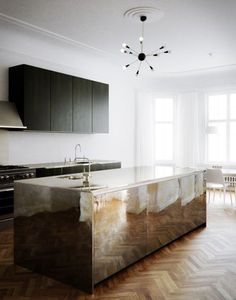 Kitchen-Herringbone Floor