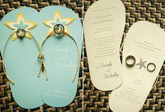 Flip-flop design for your invitations