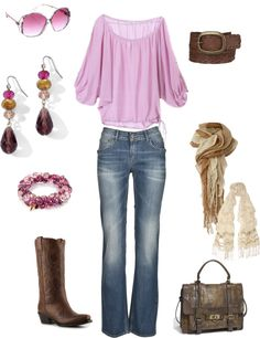 """pink and brown"" by kristen-344 on Polyvore"