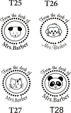 personalized teacher stamps!