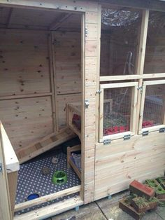 Garden shed rabbit house by Cat Davies. #AHutchIsNotEnough