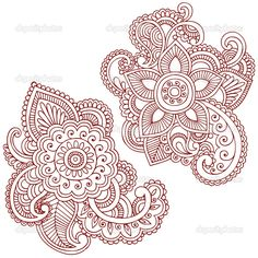 \Henna-Mehndi-Pasiley-Mandala-Flower-Doodles-Vector. I can picture these on the shoulder blades