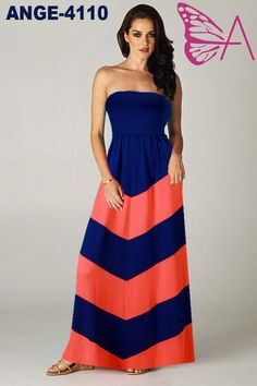 Strapless dress in our ANGELA range with sizing available from 8-10 to 20-22. Available for order at www.maxidressheaven.com