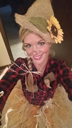 Cute scarecrow costume!  Home made!