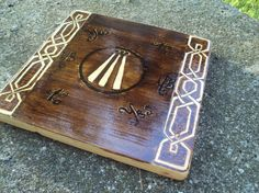 Your place to buy and sell all things handmade Pendulum Board, Celtic Knot Designs, Pagan Art, Wood Book, Oak Color, Celtic Art, Crystal Grid, Pyrography, Wood Design