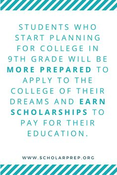 Prep for college applications and scholarships