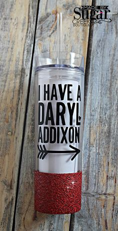 Daryl Addixon, Skinny Tumbler, 16 oz Tumbler, Cup With Straw, Clear Tumbler, The Walking Dead, Daryl Dixon, BPA FREE, Made To Order by TheSugarCreekShoppe on Etsy