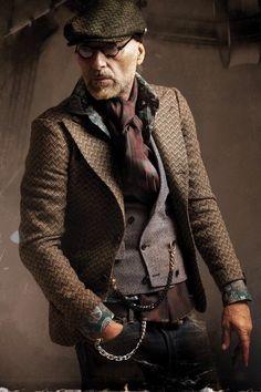 Gentleman Style 336503403390764792 - Men's Dark Brown Herringbone Blazer, Grey Waistcoat, Dark Green Floral Long… Source by Sharp Dressed Man, Well Dressed Men, Mode Man, Style Masculin, Herringbone Blazer, Smart Outfit, Herren Outfit, Inspiration Mode, Flat Cap