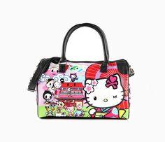 tokidoki x Hello Kitty Overnight Bag: Kimono $110 - this is not my era's Hello Kitty!