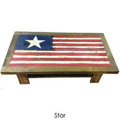 Rustic American Flag Coffee Table   Rustic Marlin Designs