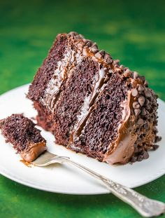 This Death by Chocolate Cake is for SERIOUS chocolate lovers only! Featuring three layers of moist chocolate cake, chocolate fudge sauce, chocolate frosting, and chocolate … Salted Caramel Chocolate Cake, Death By Chocolate Cake, Mocha Chocolate, Decadent Chocolate Cake, Chocolate Lovers, Chocolate Recipes, Cake Recipes, Dessert Recipes, Cook Desserts