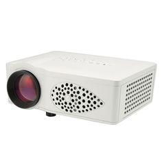 [$71.20] HT35 40LM Home Theater 800x480 Mini Projector with Remote Control, Support HDMI + USB + SD + AV + VGA(White)