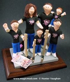 Blended Family Wedding Cake Topper With Kids Marriage CakeTopper Childrenfamily